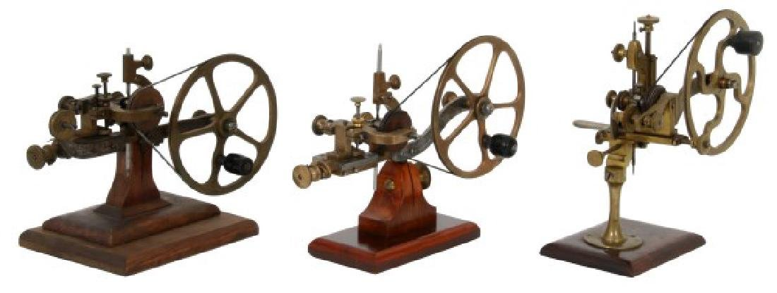 3 Brass Clockmaker's Rounding-up Tools