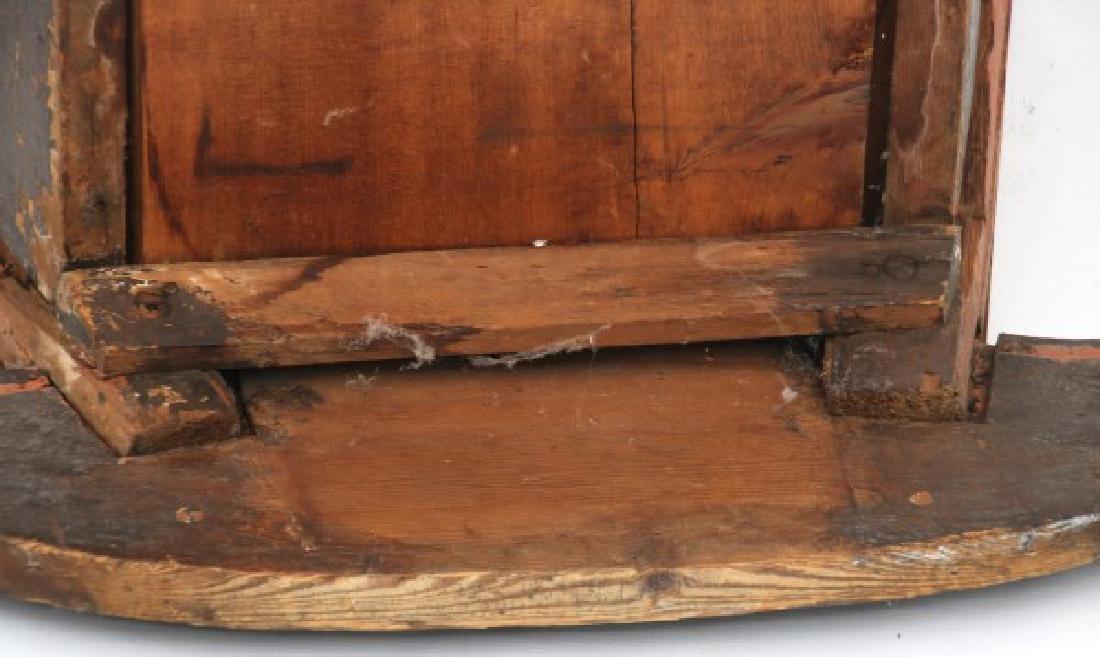 Pine Paint Decorated Cradle - 9