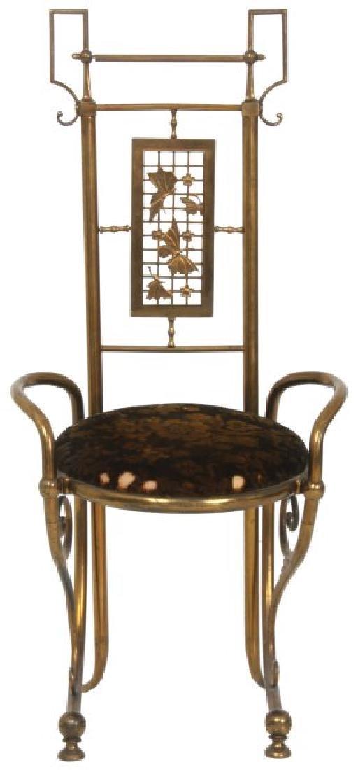 Aesthetic Gilt Brass Vanity Chair