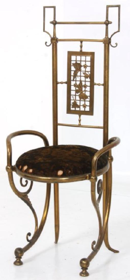 Aesthetic Gilt Brass Vanity Chair - 2