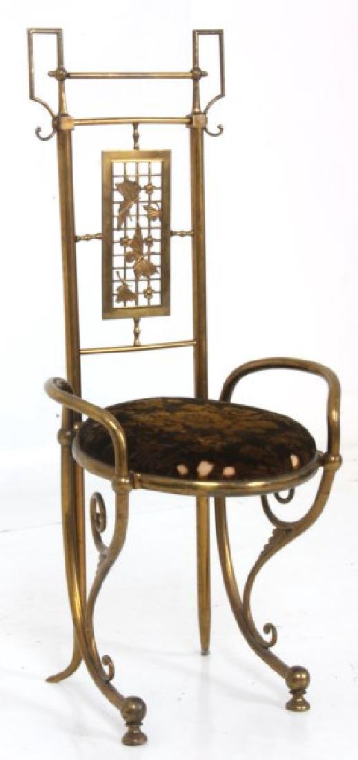 Aesthetic Gilt Brass Vanity Chair - 3