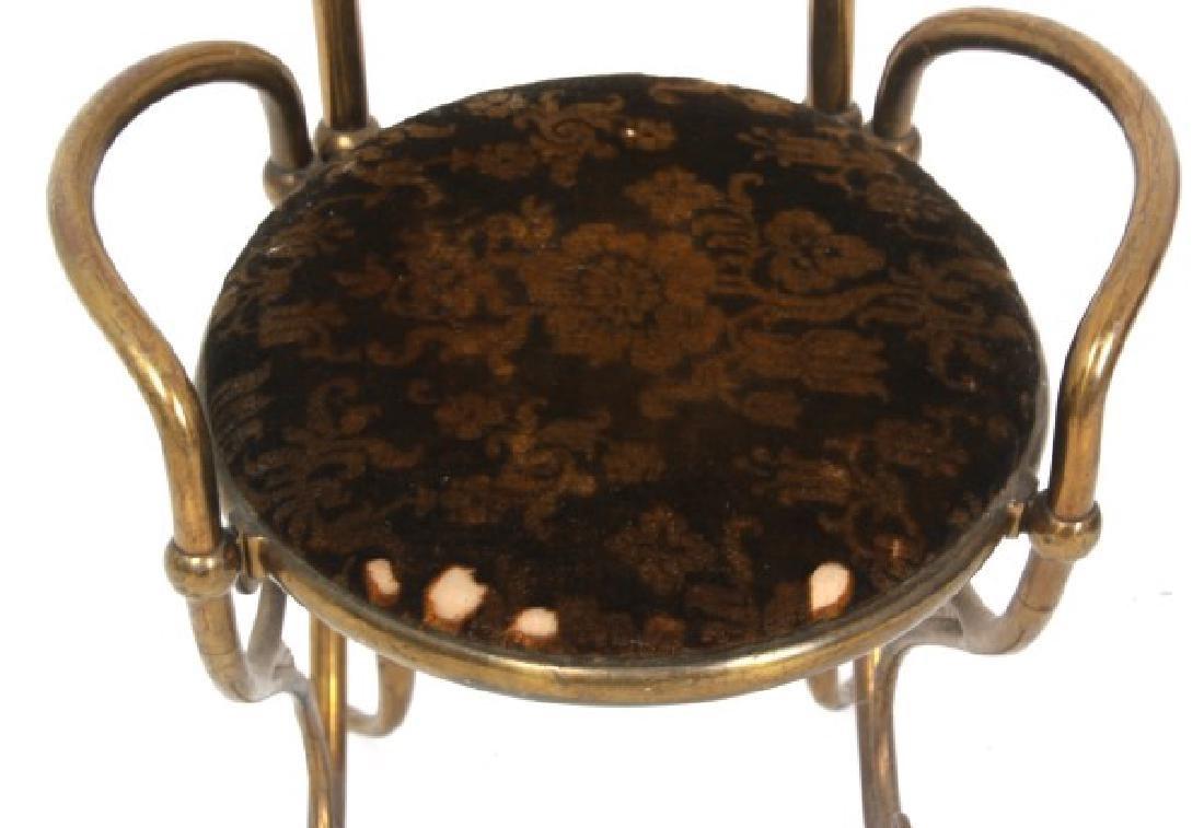Aesthetic Gilt Brass Vanity Chair - 5