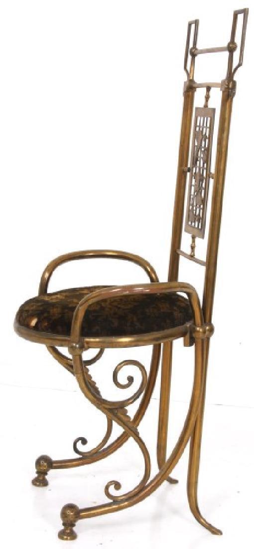 Aesthetic Gilt Brass Vanity Chair - 6