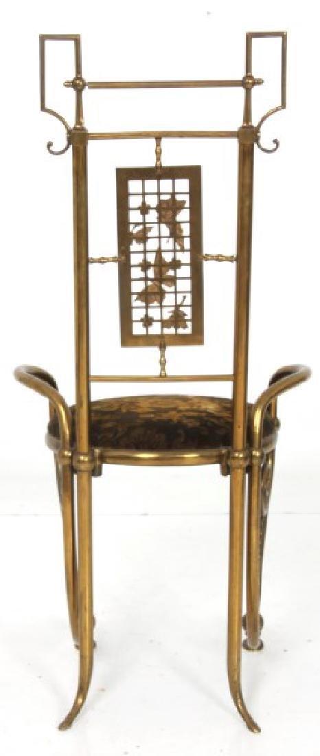 Aesthetic Gilt Brass Vanity Chair - 7