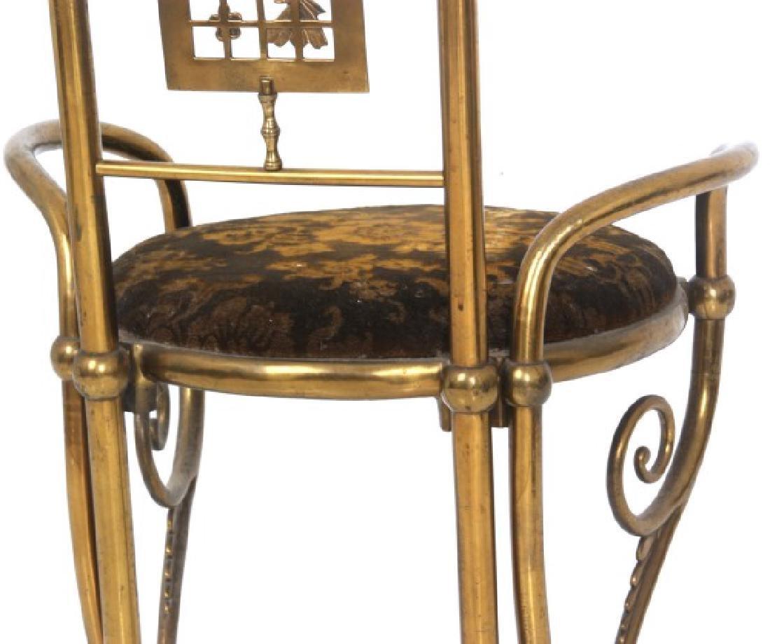 Aesthetic Gilt Brass Vanity Chair - 8