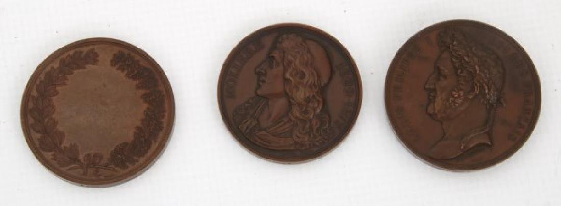 10 Assorted Bronze And Copper Medallions - 10
