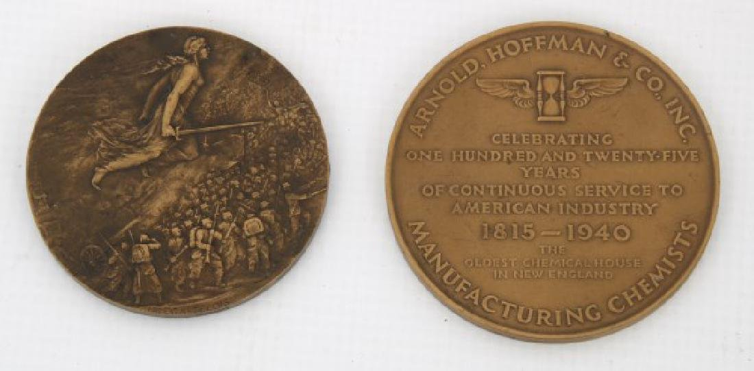 10 Assorted Bronze And Copper Medallions - 3