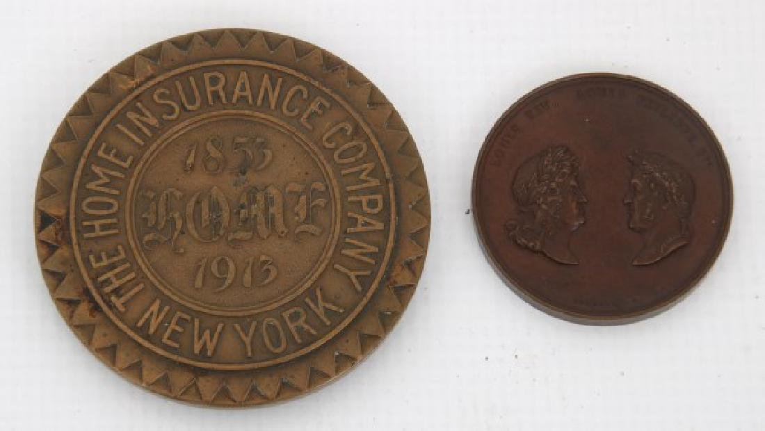 10 Assorted Bronze And Copper Medallions - 4