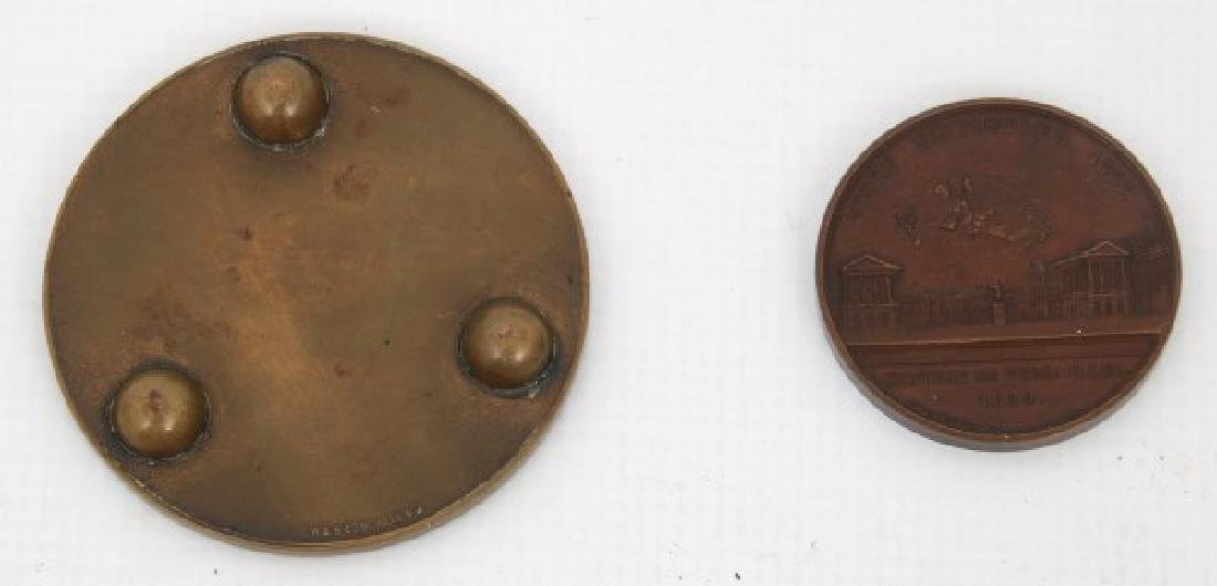 10 Assorted Bronze And Copper Medallions - 5