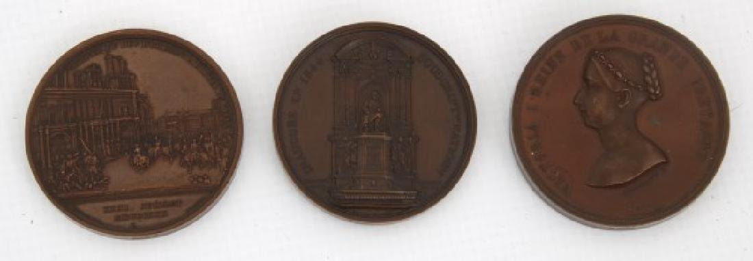 10 Assorted Bronze And Copper Medallions - 9
