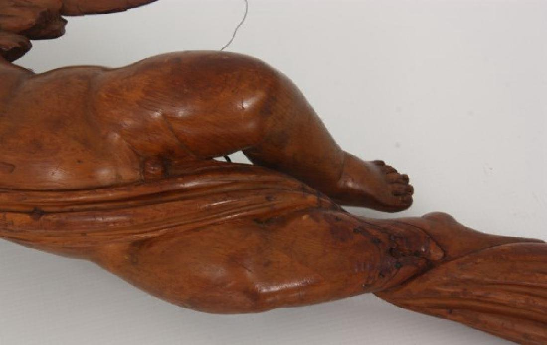 Carved Winged Putti Hanging Figure - 6