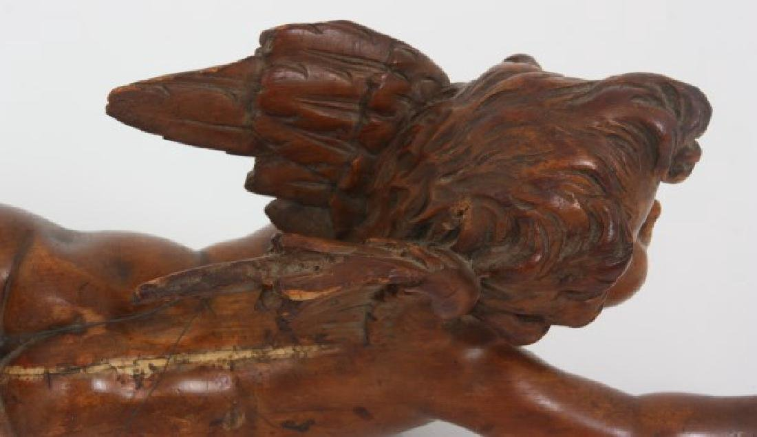Carved Winged Putti Hanging Figure - 9