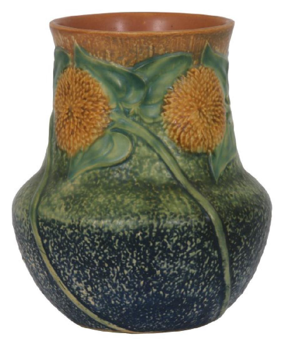 8.25 in. Roseville Pottery Sunflower Vase