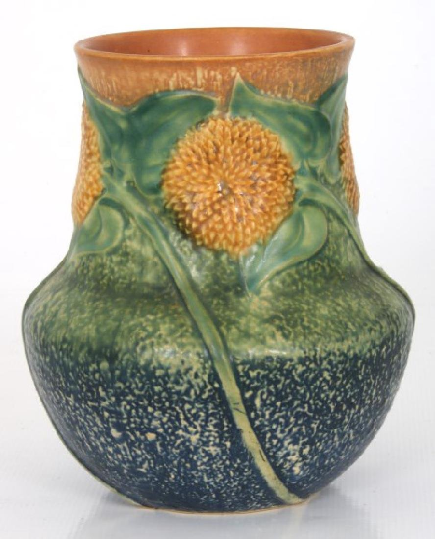 8.25 in. Roseville Pottery Sunflower Vase - 2