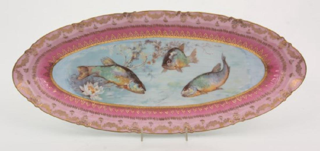 14 Pcs. Victoria Carlsbad Porcelain Fish Set - 8
