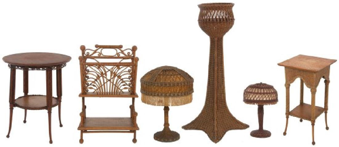 6 Pcs. Victorian Wicker Side Pieces