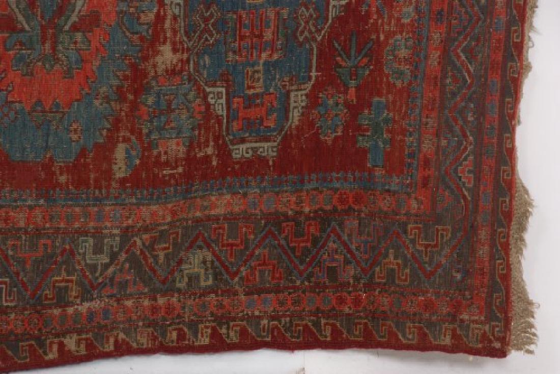 Antique Hand Woven Oriental Rug - 4