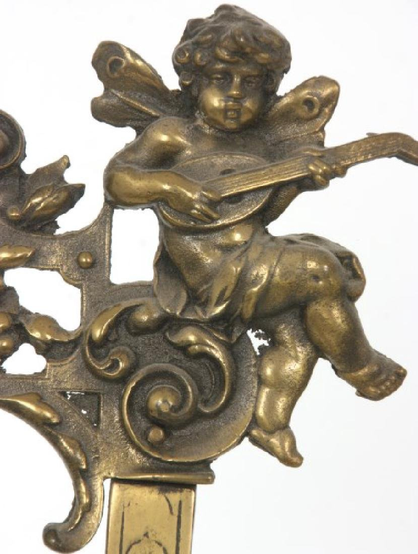 Relief Decorated Brass Table Easel - 4