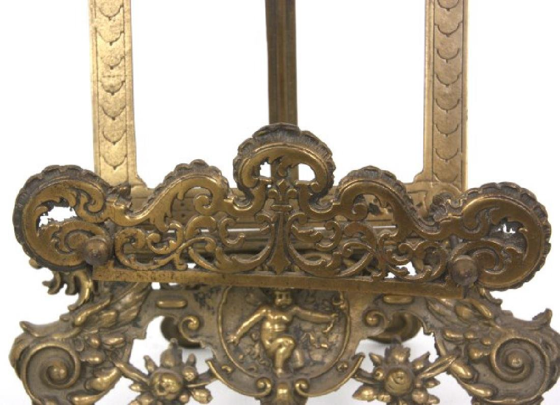 Relief Decorated Brass Table Easel - 5