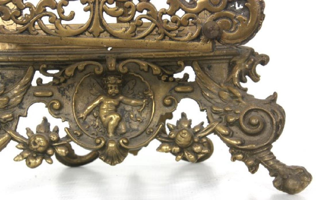 Relief Decorated Brass Table Easel - 6