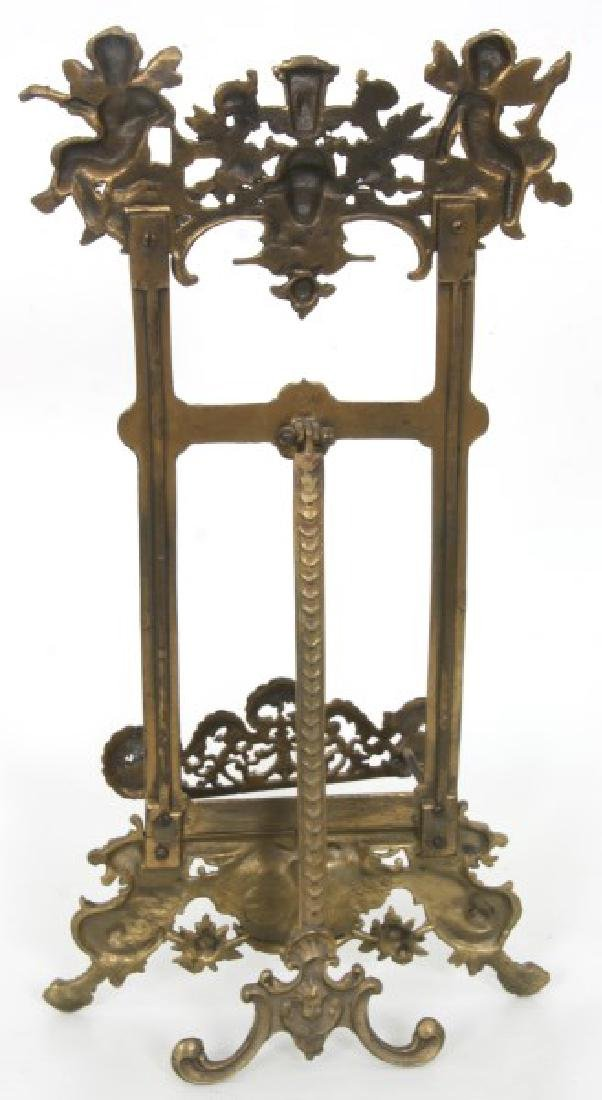 Relief Decorated Brass Table Easel - 8