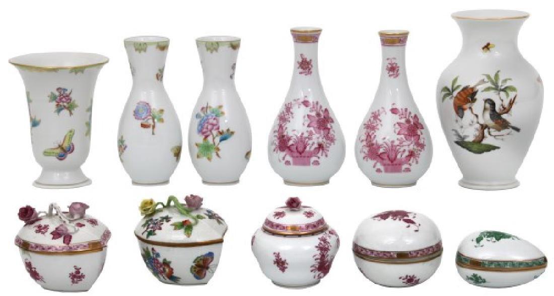 11 Pcs. Assorted Herend Porcelain