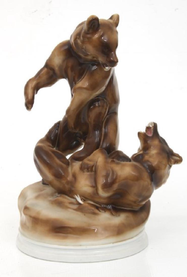 2 Pcs. Herend & Zsolnay Porcelain Figures - 5