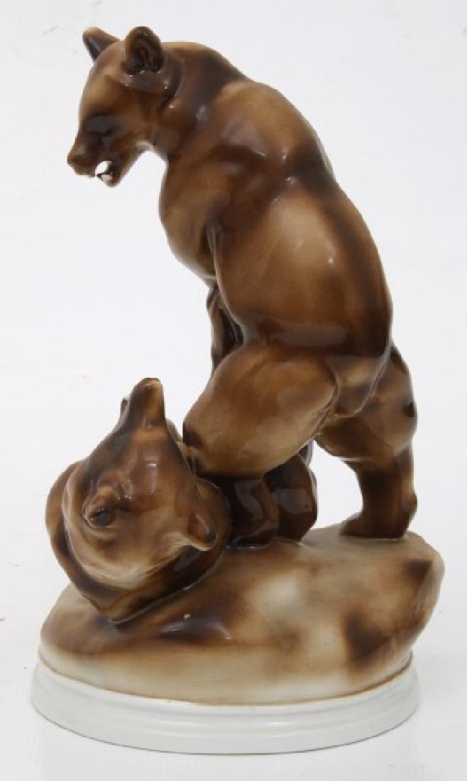 2 Pcs. Herend & Zsolnay Porcelain Figures - 6