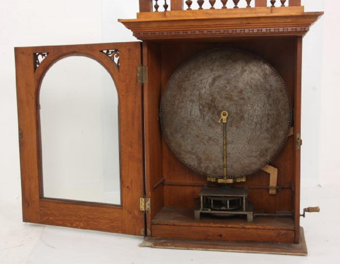Adler 26 in. Upright Disk Mahogany Music Box - 5