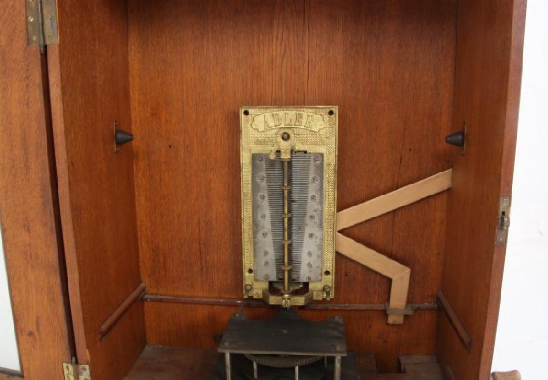 Adler 26 in. Upright Disk Mahogany Music Box - 8