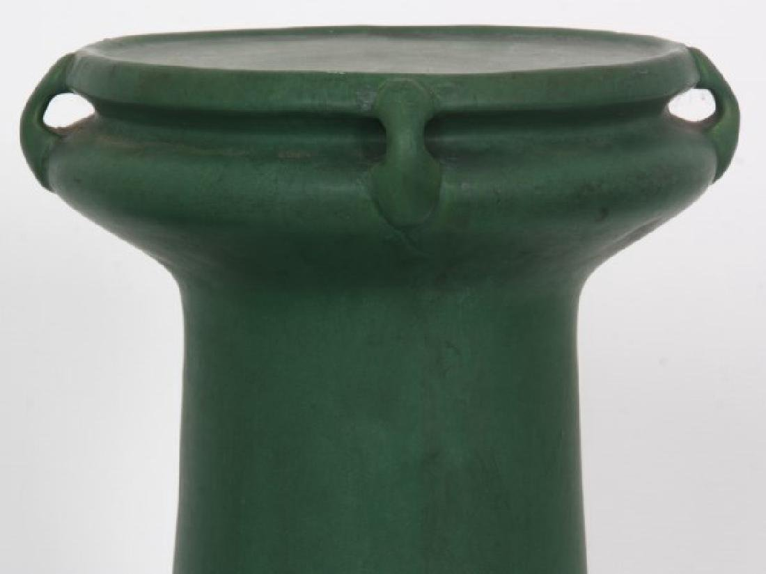 Roseville Matte Green Pedestal & Jardinieres - 5