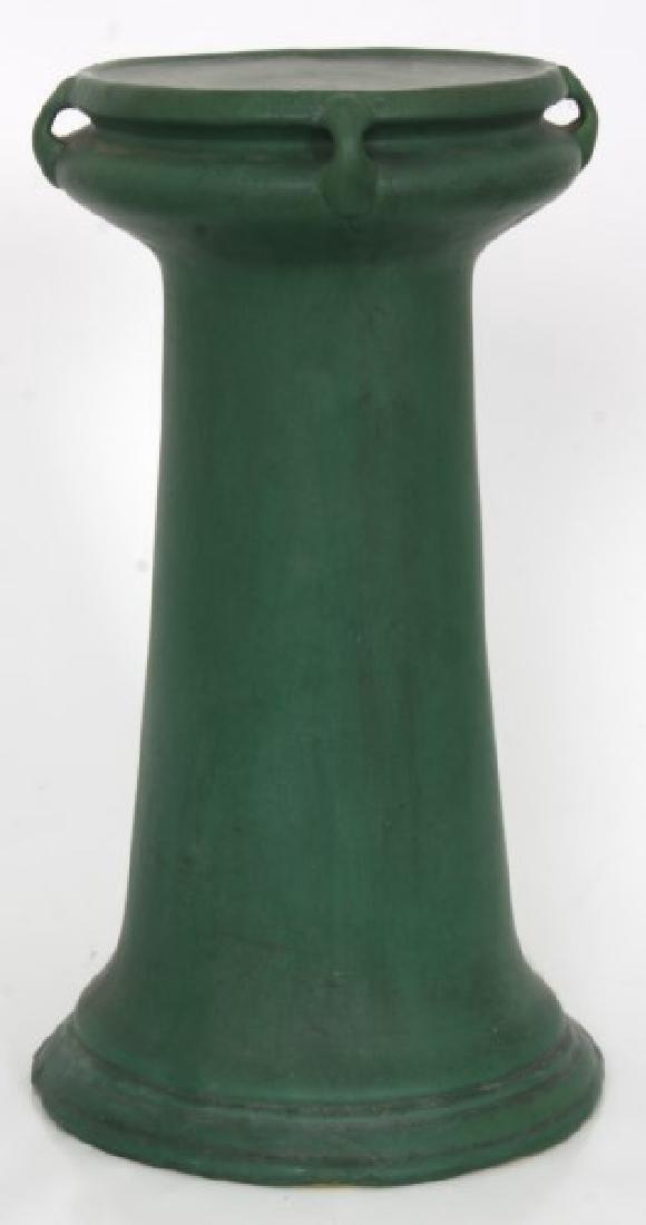 Roseville Matte Green Pedestal & Jardinieres - 6