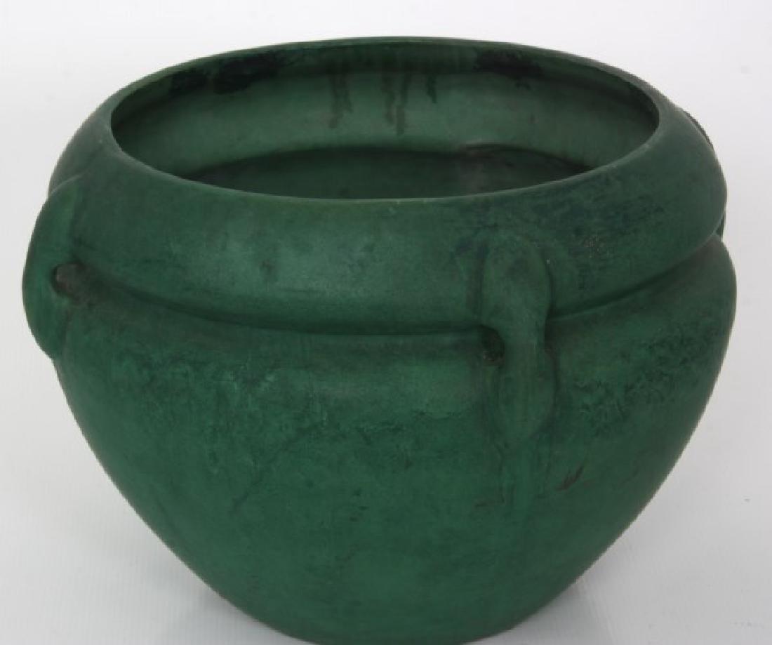 Roseville Matte Green Pedestal & Jardinieres - 7