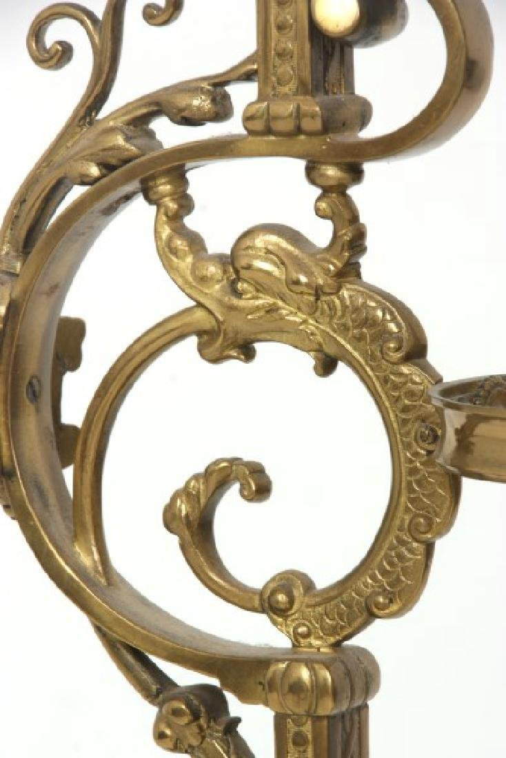 Gilt Bronze Marble Top Plant Stand - 10