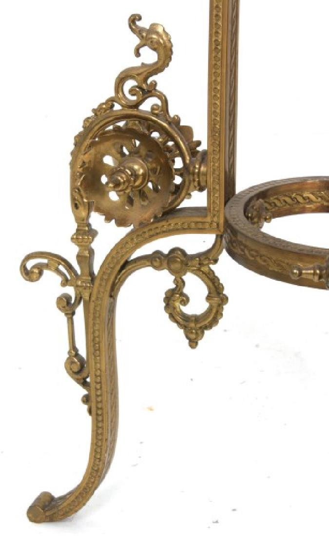 Gilt Bronze Marble Top Plant Stand - 7