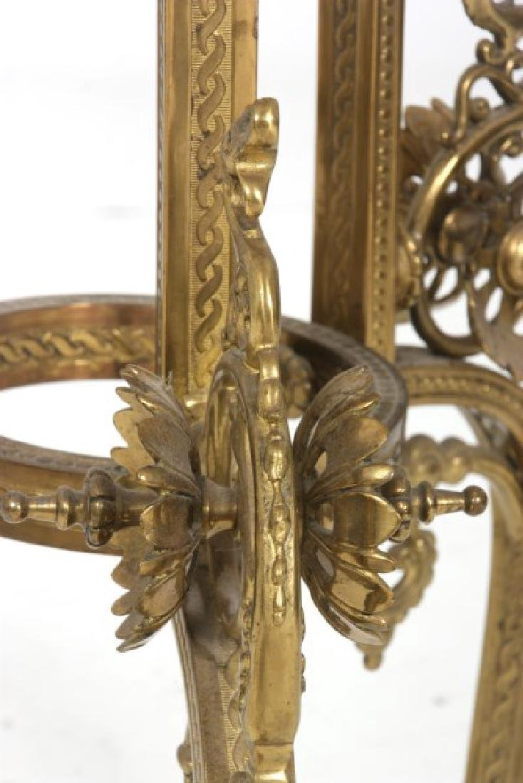 Gilt Bronze Marble Top Plant Stand - 8