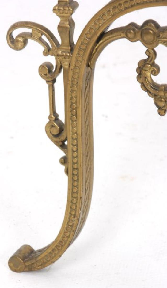 Gilt Bronze Marble Top Plant Stand - 9