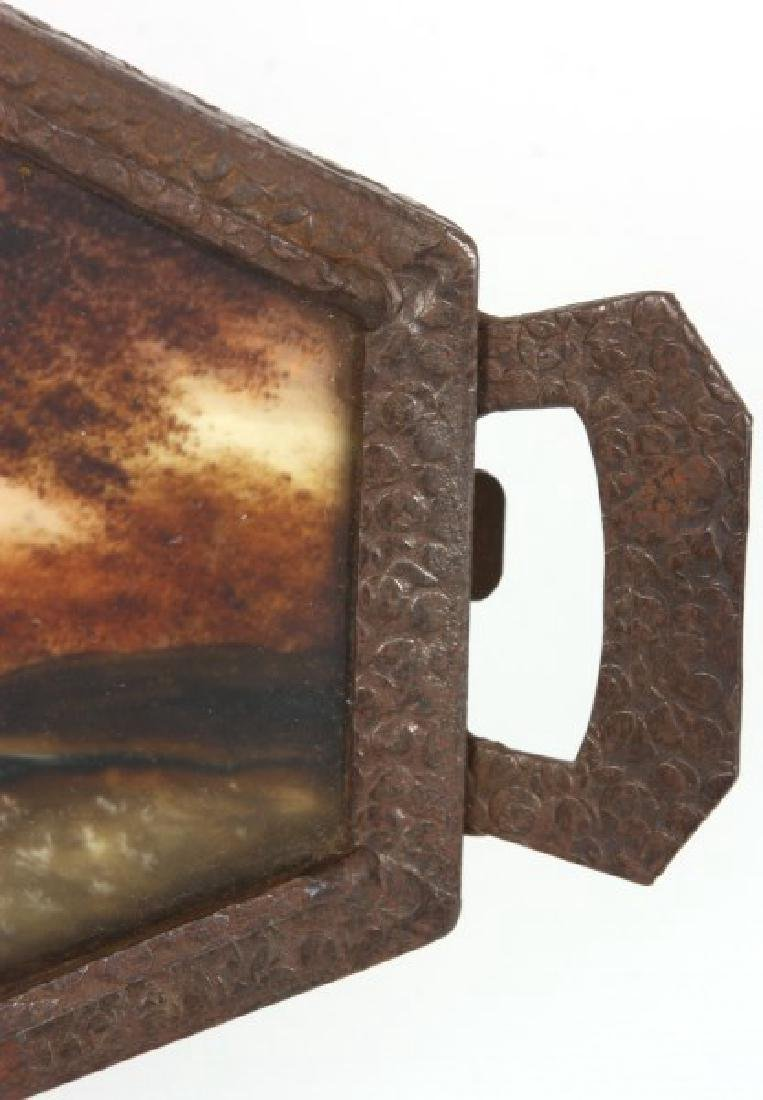 Reverse Painted Arts & Crafts Serving Tray - 7