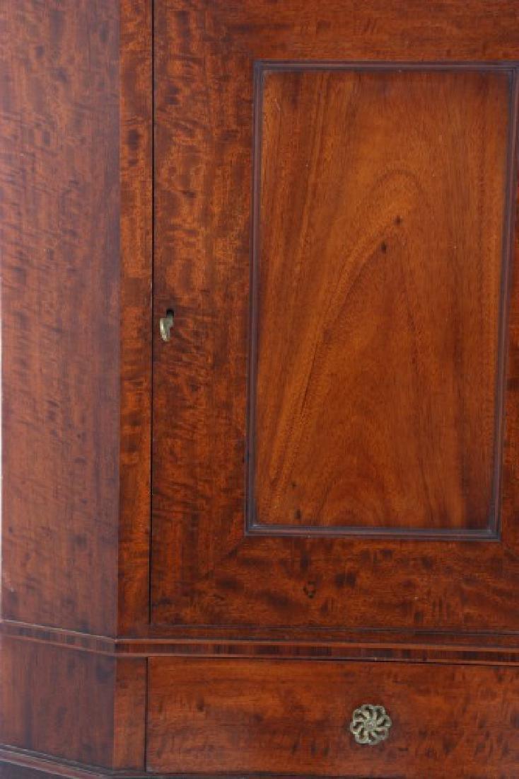Custom Hand Made Mahogany Corner Cabinet - 3