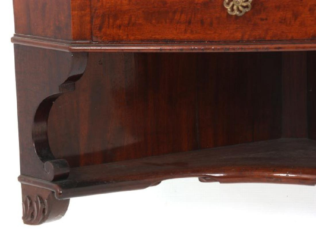 Custom Hand Made Mahogany Corner Cabinet - 5