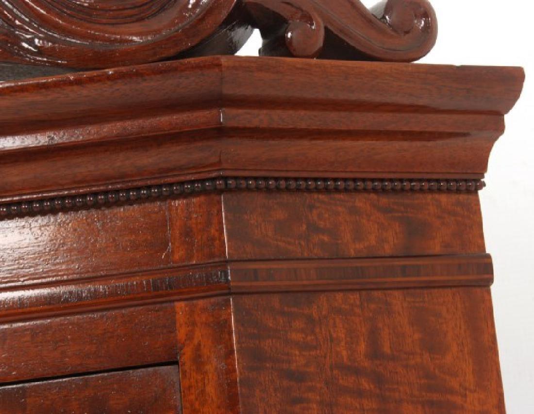 Custom Hand Made Mahogany Corner Cabinet - 6