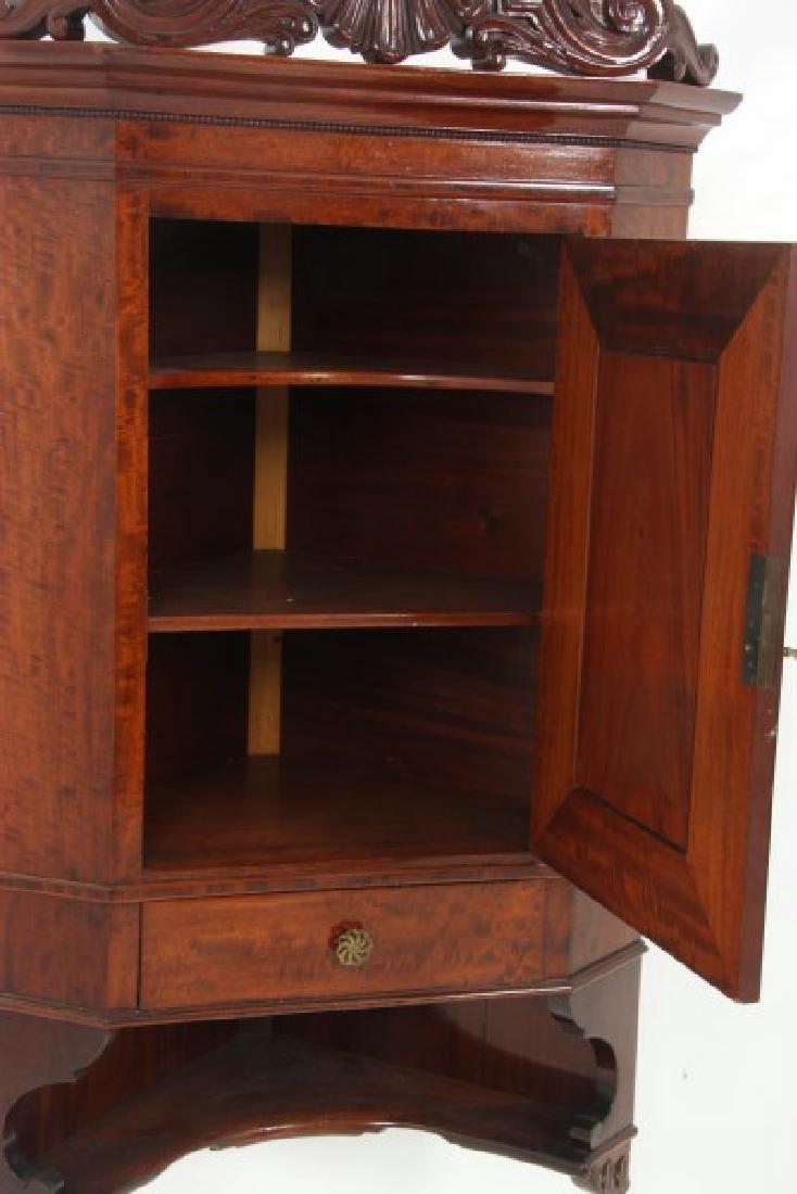 Custom Hand Made Mahogany Corner Cabinet - 7