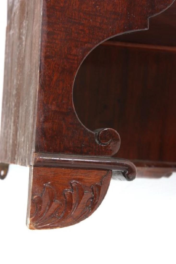 Custom Hand Made Mahogany Corner Cabinet - 9