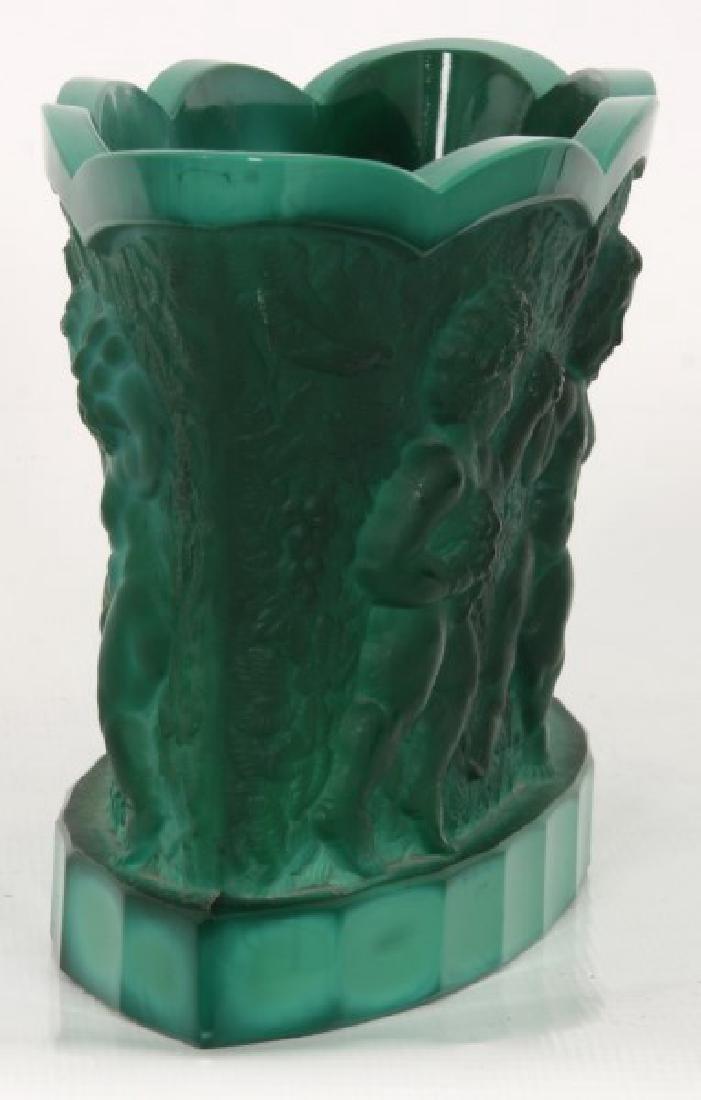 Czech Malachite Glass Fernery - 2