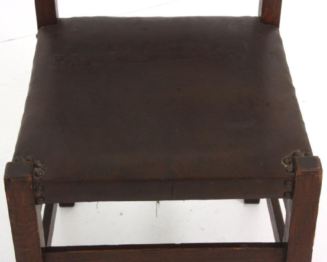 Oak Arts & Crafts Chair & Footstool - 2