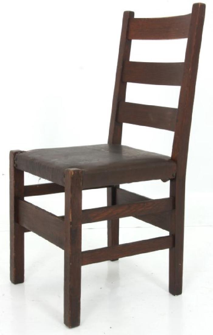 Oak Arts & Crafts Chair & Footstool - 4