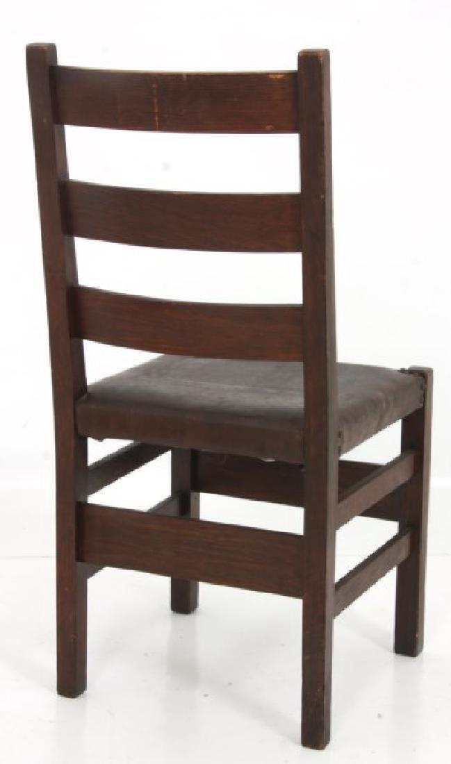 Oak Arts & Crafts Chair & Footstool - 5