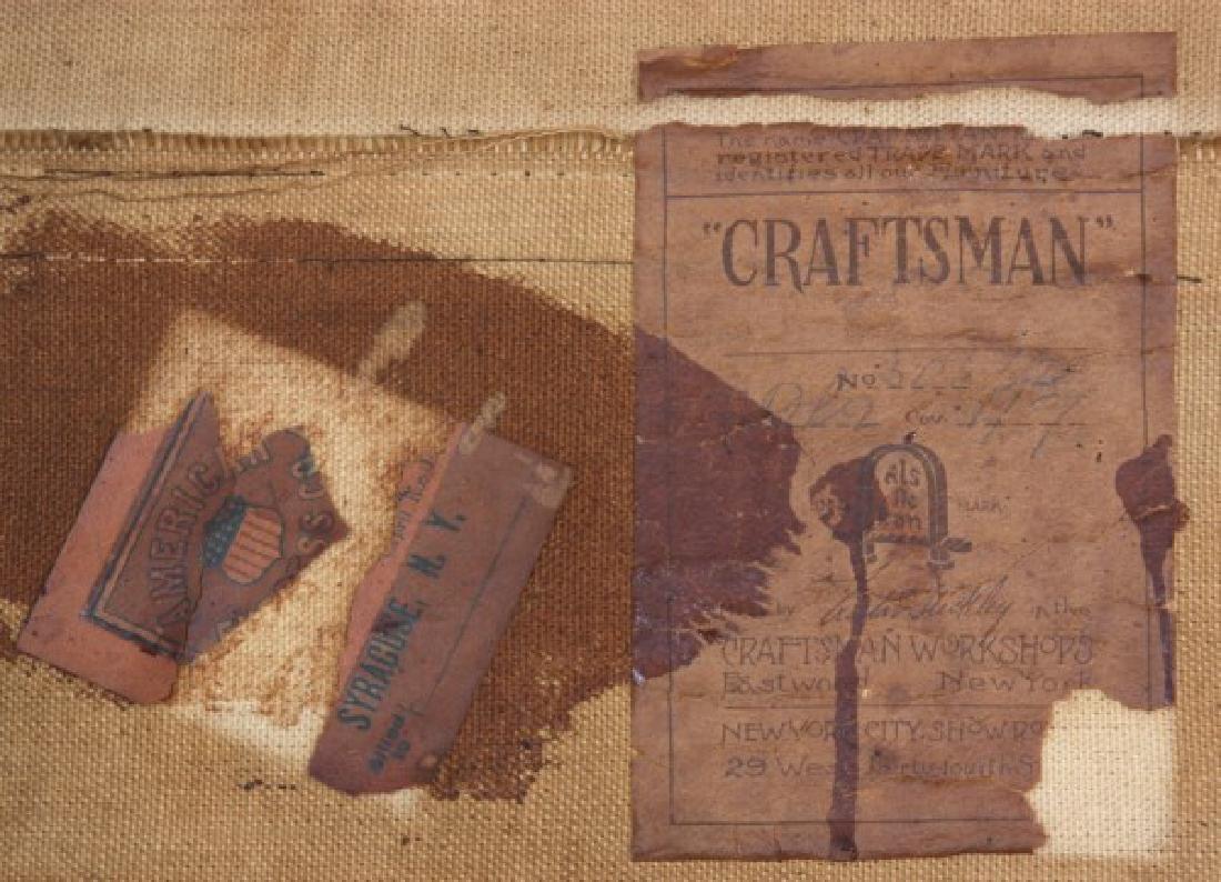 Oak Arts & Crafts Chair & Footstool - 6