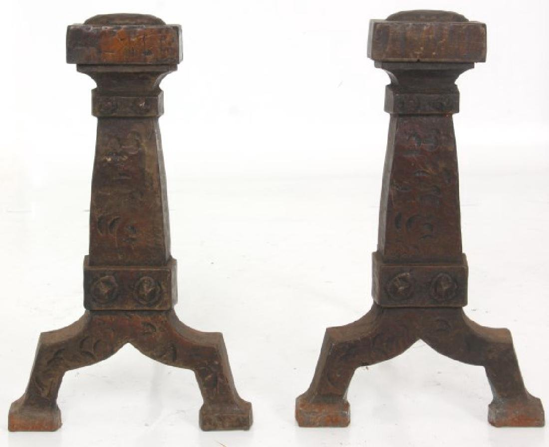 3 Sets Of Andirons And Fireplace Tools - 6