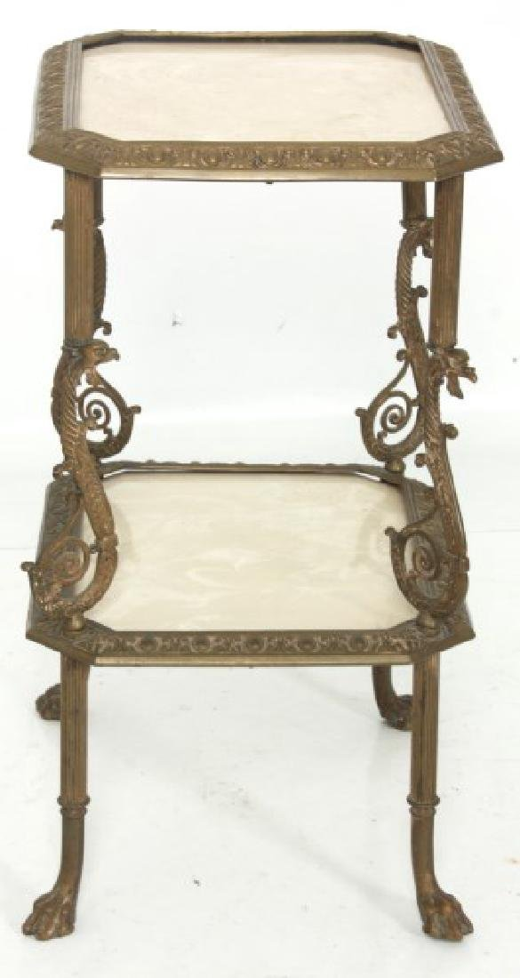 Bronze Griffin 2 Tier Stand - 10